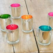 Six Colourful Tealight Lanterns